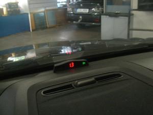 Parkovací senzory činnost
