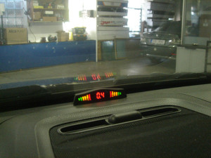 Parkovací senzory uvnitř